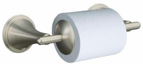 Kohler-K-361-BN-Finial-Traditional-Toilet-Tissue-Holder---Brushed-Nickel