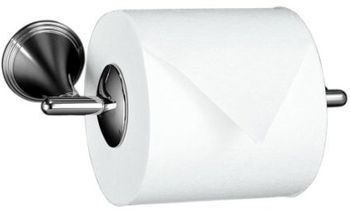 Kohler K-361-BV Finial Traditional Toilet Tissue Holder - Brushed Nickel (Pictured in Chrome)