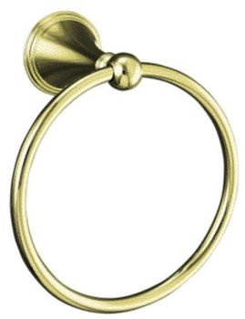 Kohler K-363-AF Finial Traditional Towel Ring - French Gold