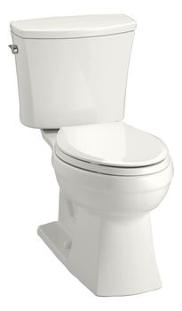 Kohler K-3755-0 Kelston Comfort Height 2-piece Toilet with 1.28 GPF and Elongated Bowl - White