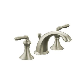 Kohler K-394-4-BN Devonshire Two Handle Lavatory Widespread Faucet - Brushed Nickel