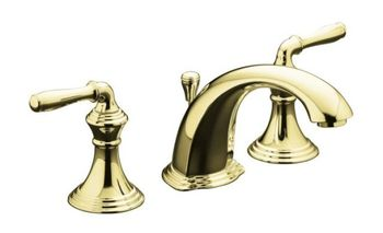 Kohler K-394-4-PB Devonshire Two Handle Lavatory Widespread Faucet - Polished Brass