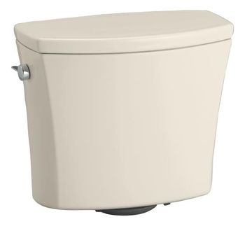 Kohler K-4469-47 Kelston Toilet Tank with 1.28 gpf - Almond