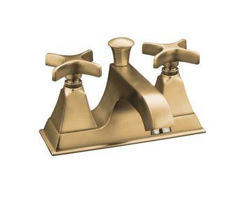 Kohler K-452-3S-BV Memoirs Centerset Lavatory Faucet w/Cross Handles - Brushed Bronze