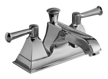 Kohler K-452-4S-CP Memoirs Centerset Lavatory Faucet - Polished Chrome