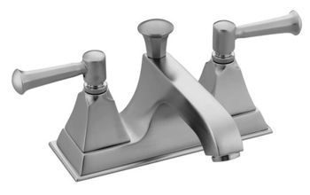 Kohler K-452-4S-G Memoirs Centerset Lavatory Faucet - Brushed Chrome