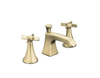 Kohler K-454-3C-BN Memoirs Widespread Lavatory Faucets - Brushed Nickel