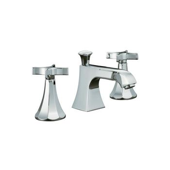 Kohler K-454-3C-CP Memoirs Widespread Lavatory Faucets - Polished Chrome