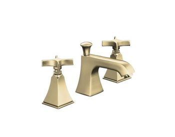 Kohler K-454-3S-BN Memoirs+ Widespread Lavatory Faucet with Stately Design and Cross Handles - Brushed Nickel