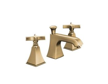 Kohler K-454-3S-BV Memoirs+ Widespread Lavatory Faucet with Stately Design and Cross Handles - Brushed Bronze