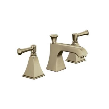 Kohler K-454-4S-BV Memoirs+ Widespread Lavatory Faucet with Stately Design and Lever Handles - Brushed Bronze