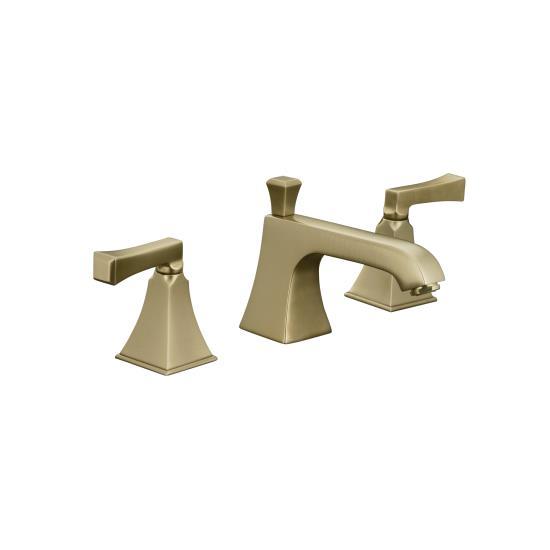 Kohler K-454-4V-BV Memoirs Widespread Lavatory Faucet w/Deco Lever Handles - Brushed Bronze