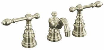 Kohler K-6811-4-SN IV Georges Brass Widespread Lavatory Faucet with Lever Handles - Satin Nickel