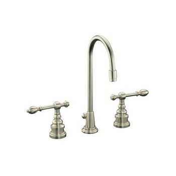 Kohler K-6813-4-BN IV Georges Brass Widespread Lavatory Faucet w/Lever Handles - Brushed Nickel