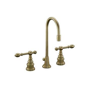 Kohler K-6813-4-BV IV Georges Brass Widespread Lavatory Faucet w/Lever Handles - Brushed Bronze