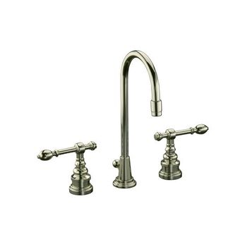Kohler K-6813-4-SN IV Georges Brass Widespread Lavatory Faucet w/Lever Handles - Polished Nickel