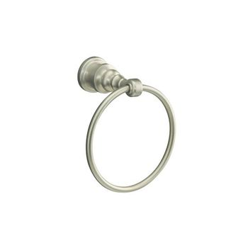 Kohler K-6817-BV IV Georges Brass Towel Ring - Brushed Bronze (Pictured in Brushed Nickel)