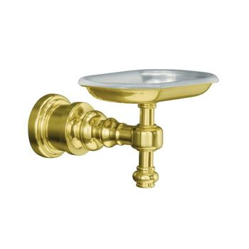 Kohler K-6820-PB IV Georges Brass Soap Dish - Polished Brass
