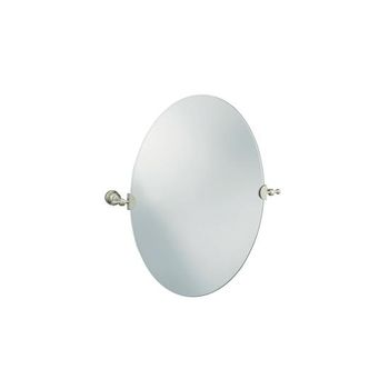 Brushed Nickel Bathroom Mirror on 6824 Bn Iv Georges Brass Mirror   Brushed Nickel   Faucet Depot