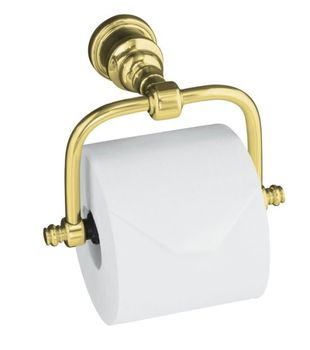 Kohler K-6828-PB IV Georges Brass Horizontal Toilet Tissue Holder - Polished Brass