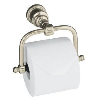 Kohler K-6828-SN IV Georges Brass Horizontal Toilet Tissue Holder - Polished Nickel