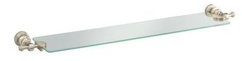 Kohler K-6829-SN IV Georges Brass Glass Shelf - Polished Nickel (Pictured in Brushed Nickel)