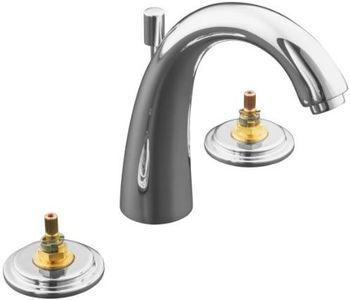 Kohler K-8215-K-CP Double Handle Widespread Lavatory Faucet - Polished Chrome