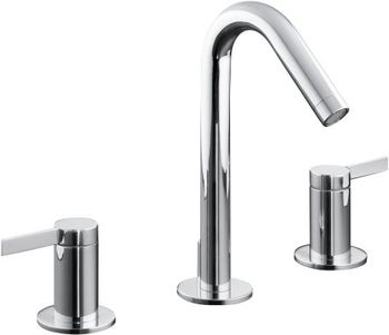 Kohler K-942-4-BN Stillness Widespread Lavatory Faucet - Brushed Nickel (Pictured in Polished Chrome)