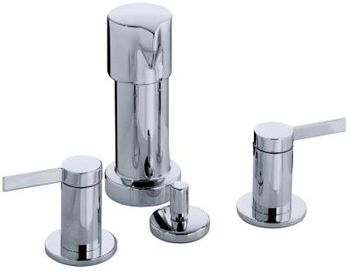 Kohler K-960-4-BN Stillness Widespread Bidet Faucet with Lever Handles - Brushed Nickel (Pictured in Chrome)
