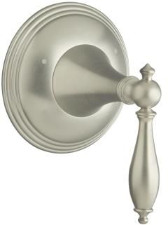 Kohler K-T10304-4M-BN Finial Traditional Transfer Valve Trim with Lever Handle - Brushed Nickel (Valve Not Included)
