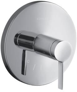 Kohler K-T10940-4-CP Stillness Thermostatic Valve Trim with Lever Handle - Chrome