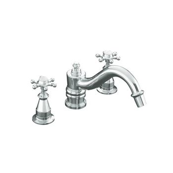 Kohler K-T125-3D-CP Antique Deck-Mount High-Flow Bath Faucet Trim - Polished Chrome