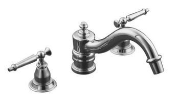 Kohler K-T125-4-BN Antique Deck-Mount High-Flow Bath Faucet Trim Only - Brushed Nickel (Pictured in Polished Chrome)