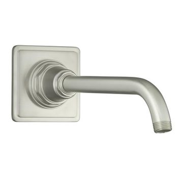 Kohler K-13136-BN Pinstripe Showerarm and Flange - Brushed Nickel