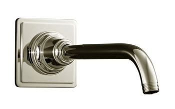 Kohler K-13136-SN Pinstripe Showerarm and Flange - Polished Nickel