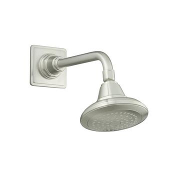 Kohler K-13137-BN Pinstripe Single-Function Showerhead - Brushed Nickel (Pictured w/Showerarm and Flange, Not Included)