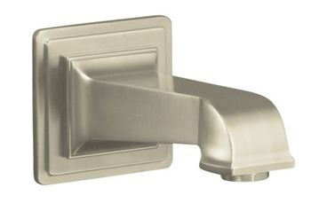 Kohler K-13139-A-BN Pinstripe Pure Design Wall Mount Bath Spout - Brushed Nickel