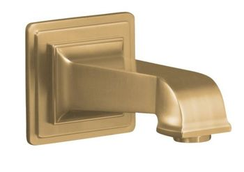 Kohler K-13139-A-BV Pinstripe Pure Design Wall Mount Bath Spout - Brushed Bronze