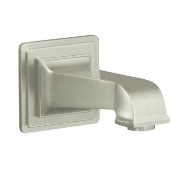 Kohler K-13139-A-CP Pinstripe Pure Design Wall Mount Bath Spout - Chrome (Pictured in Brushed Nickel)