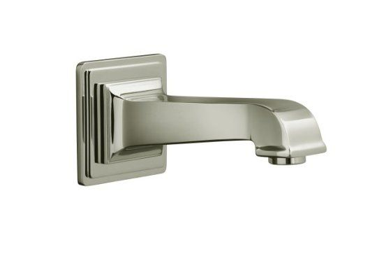 Kohler K-13139-A-SN Pinstripe Pure Design Wall Mount Bath Spout - Polished Nickel