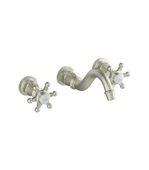 Kohler K-T154-3-BN Wall Mount Lavatory Faucet Trim Only - Brushed Nickel