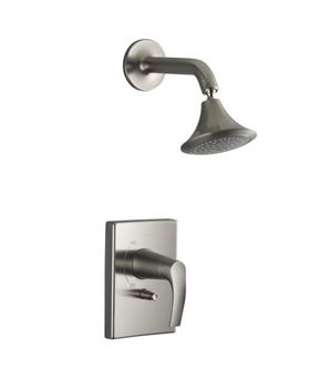 Kohler K-T18489-4-BN Symbol Rite-Temp Shower Faucet Trim - Brushed Nickel