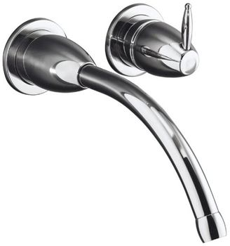 Kohler K-T198-CP Falling Water Wall-Mount Lavatory Faucet Trim (Valve Not Included) - Chrome