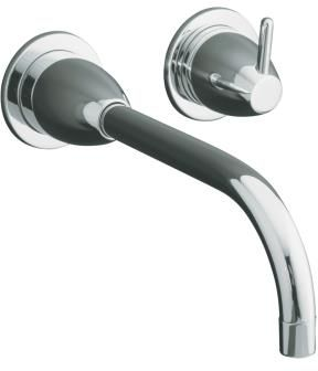 Kohler K-T199-BN Falling Water Wall-Mount Lavatory Faucet trim (Valve Not Included) - Brushed Nickel (Pictured in Chrome)