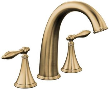 Kohler K-T314-4M-BV Finial Traditional Deck-Mount High-Flow Bath Faucet Trim - Brushed Bronze (Valve Not Included)