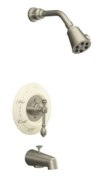 Kohler K-T6808-4D-BN IV Georges Brass Bath and Shower Faucet Trim Only - Brushed Nickel (Pictured w/Ceramic Dial Plate, Not Included)
