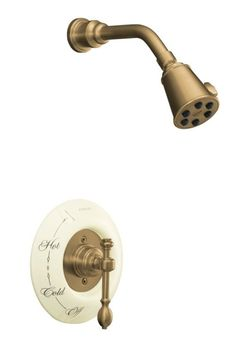 Kohler K-T6809-4D-BV IV Georges Brass Pressure-Balancing Shower Faucet Trim Only - Brushed Bronze (Pictured w/Ceramic Dial Plate, Not Included)