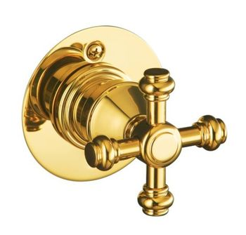 Kohler K-T6810-3D-BN IV Georges Brass Pressure-Balance Valve Trim Only - Brushed Nickel (Pictured in Polished Brass)