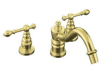 Kohler K-T6906-4-PB IV Georges Brass Deck-Mount Roman Tub Faucet w/ Lever Handles Trim Only - Polished Brass