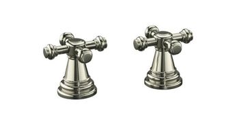 Kohler K-T6915-3-SN IV Georges Brass Deck-Mount High-Flow Cross Handles Trim Only - Satin Nickel